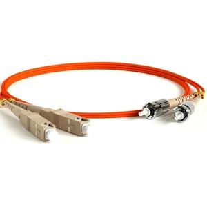 Патч-корд волоконно-оптический Hyperline FC-D3-50-SC/PR-ST/PR-H-30M-PVC-OR 30.0m