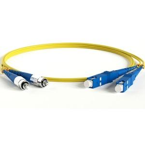 Патч-корд волоконно-оптический Hyperline FC-D2-9-FC/UR-SC/UR-H-5M-LSZH-YL 5.0m