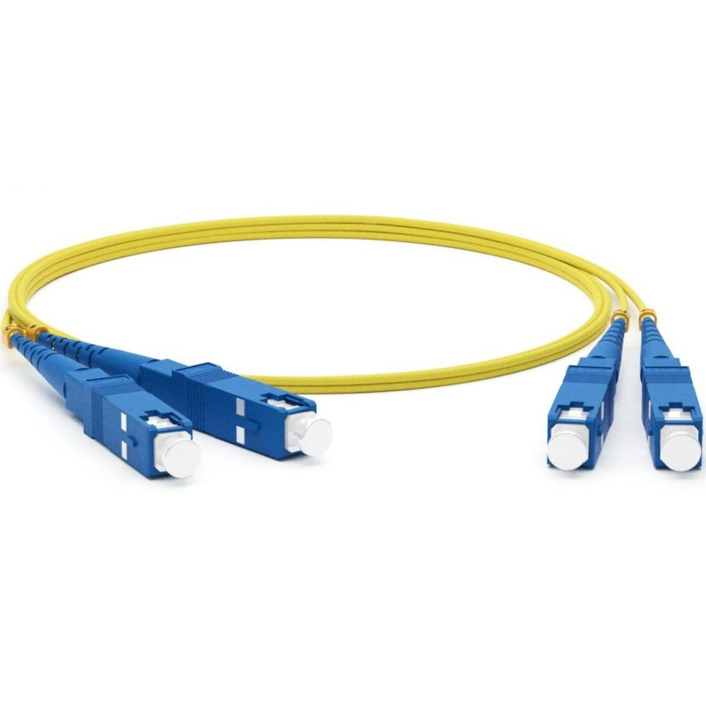 Патч-корд волоконно-оптический Hyperline FC-D2-9-SC/UR-SC/UR-H-5M-LSZH-YL 5.0m