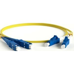 Патч-корд волоконно-оптический Hyperline FC-D2-9-LC/UR-SC/UR-H-0.5M-LSZH-YL 0.5m