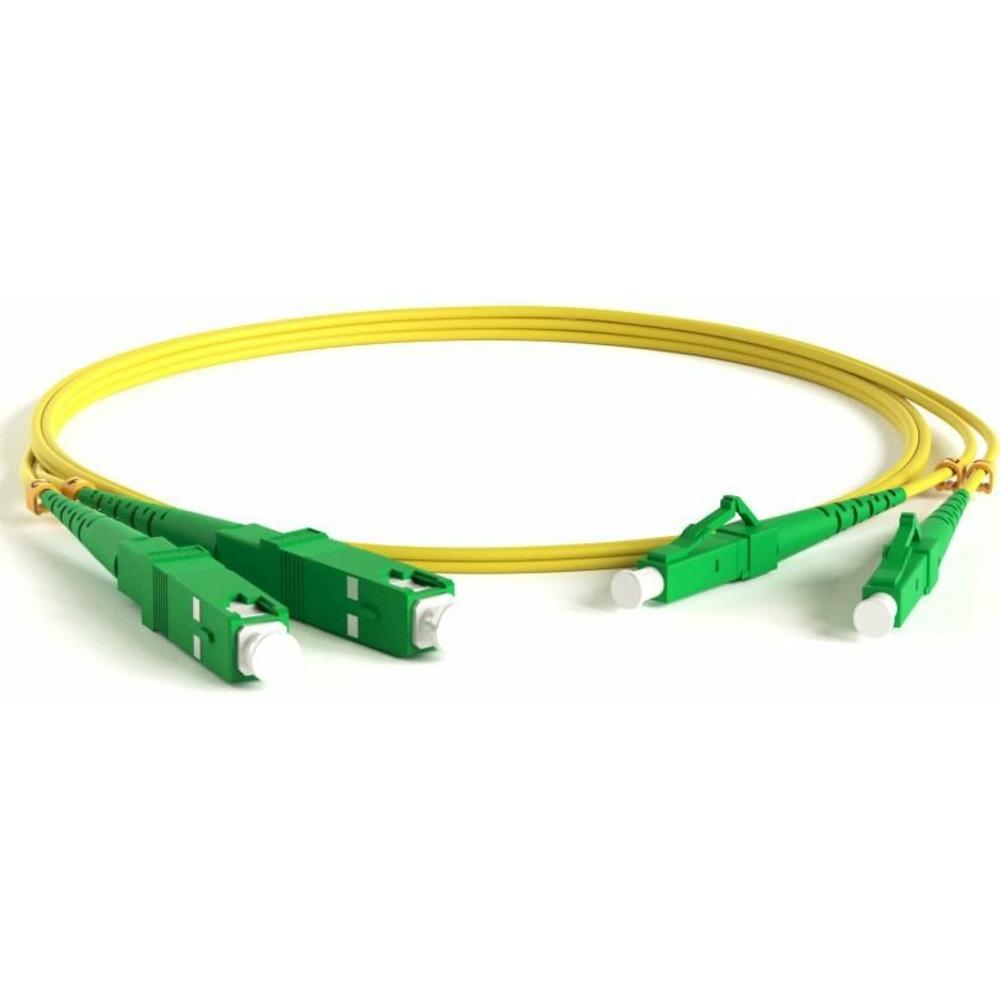 Патч-корд волоконно-оптический Hyperline FC-D2-9-LC/AR-SC/AR-H-3M-LSZH-YL 3.0m