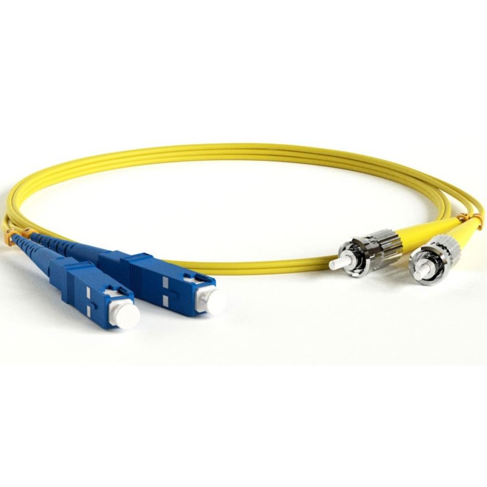 Патч-корд волоконно-оптический Hyperline FC-D2-9-SC/UR-ST/UR-H-3M-LSZH-YL 3.0m