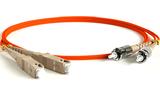 Кабель оптический патч-корд Hyperline FC-D2-50-SC/PR-ST/PR-H-3M-LSZH-OR 3.0m