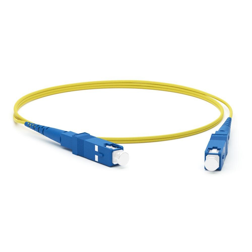 Патч-корд волоконно-оптический Hyperline FC-S2-9-SC/UR-SC/UR-H-2M-LSZH-YL 2.0m