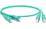 Кабель оптический патч-корд Hyperline FC-D2-503-SC/PR-SC/PR-H-2M-LSZH-AQ 2.0m
