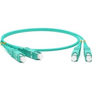 Патч-корд волоконно-оптический Hyperline FC-D2-503-SC/PR-SC/PR-H-2M-LSZH-AQ 2.0m