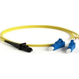 Патч-корд волоконно-оптический Hyperline FC-D2-9-LC/UR-MTRJM/UR-H-2M-LSZH-YL 2.0m