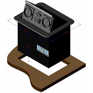 Модуль встраиваемый с пневматической крышкой QteX MDA-560