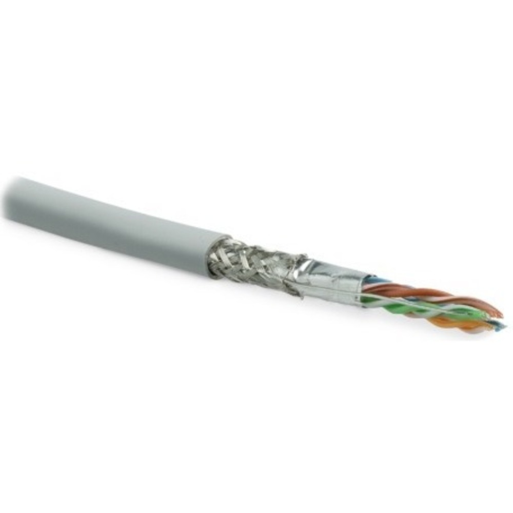 Отрезок кабеля витая пара Hyperline (арт. 4078) SFUTP4-C5E-S24-IN-LSZH-GY 3.3m
