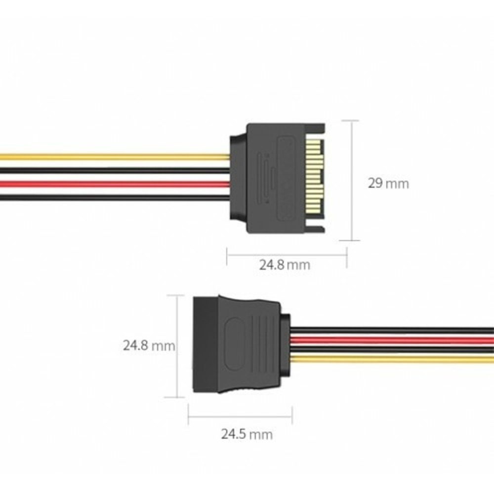 Кабель SATA - SATA Vention KDABY 0.3m
