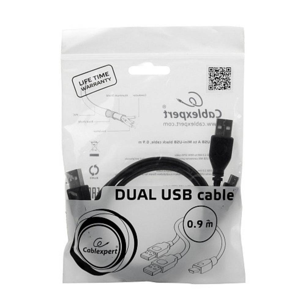 Кабель USB 2.0 Тип A - B 5pin mini Gembird CCP-USB22-AM5P-3 0.9m