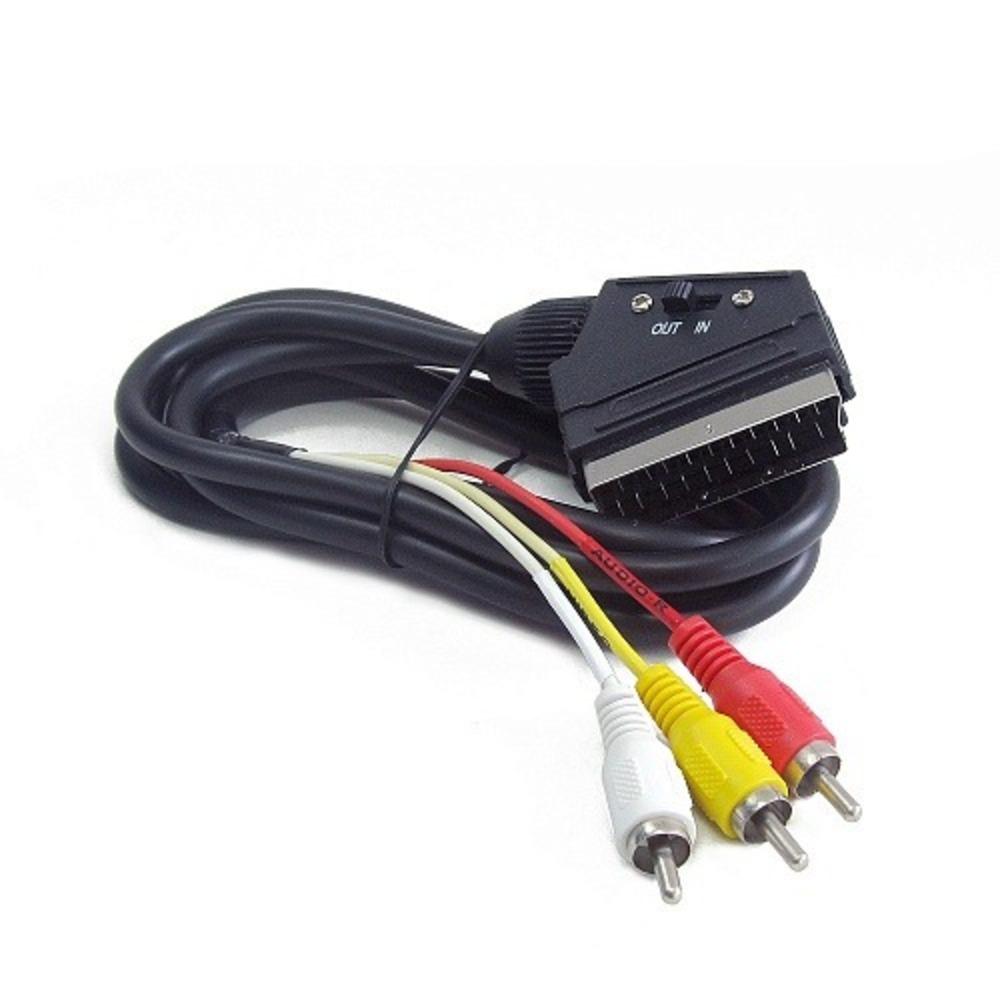 Кабель видео SCART - RCA Cablexpert CCV-519-001 1.8m