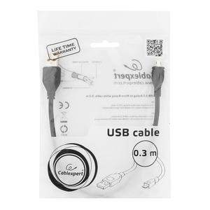 Micro USB кабель Cablexpert CCP-mUSB2-AMBM-0.3M 0.3m