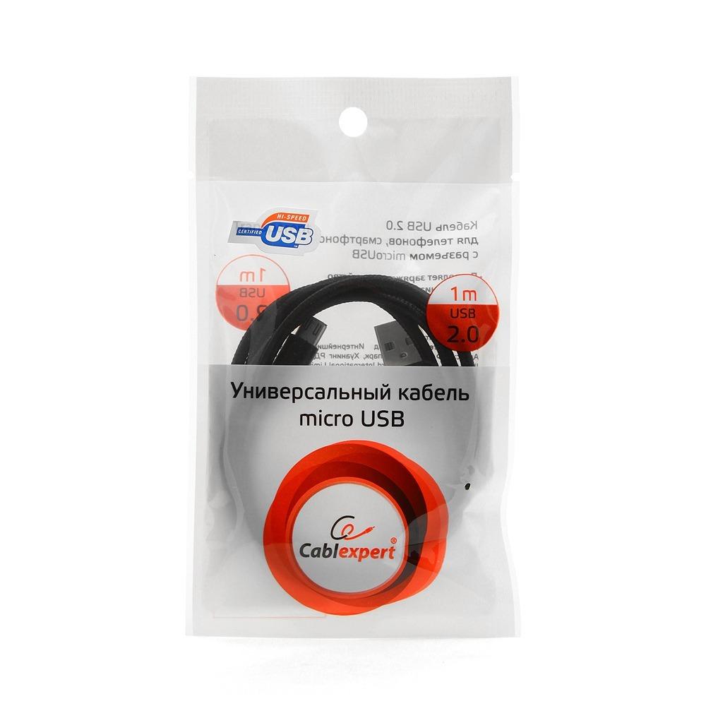 Micro USB кабель Cablexpert CC-mUSB2bk1m 1.0m