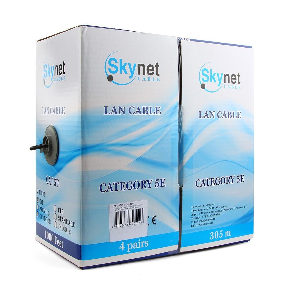 Витая пара в катушке не экранированная SkyNet CSL-UTP-4-CU-OUT 305 м
