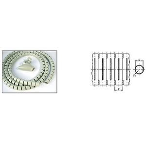 Пластиковый спиральный рукав для кабеля Hyperline SHW-20