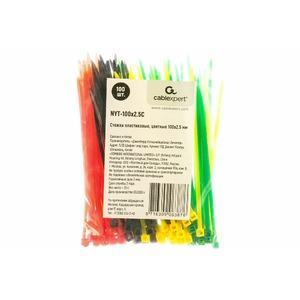 Стяжка, хомут Cablexpert NYT-100x2.5C 100 мм х 2,5 мм (набор 4 цвета по 25 шт)