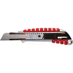 Нож с сегментированным лезвием Rexant 12-4900 18 мм, металлический обрезиненный корпус