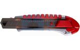 Нож с сегментированным лезвием Rexant 12-4918 25 мм, металлический обрезиненный корпус