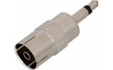 Соединитель антенный Rexant 05-2304 штекер 3.5мм mono - гнездо TV