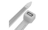 Хомут нейлоновый (кабельная стяжка) Rexant 67-0200 Тройной замок 3.6 х 200мм белый (100 штук)
