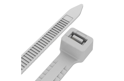 Хомут нейлоновый (кабельная стяжка) Rexant 67-0250 Тройной замок 3.6 х 250мм белый (100 штук)