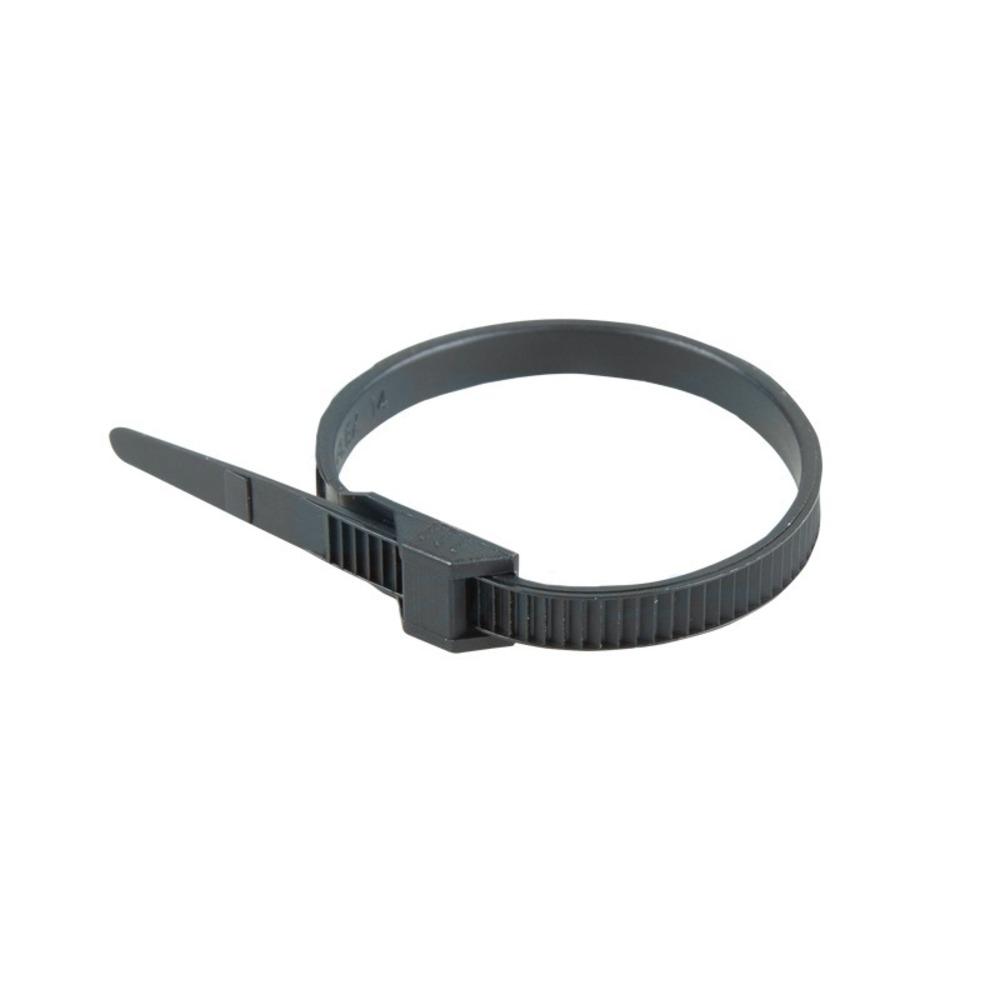 Хомут усиленный с двойным горизонтальным замком Rexant 07-0186 nylon-12 180 x 6мм черный (100 штук)