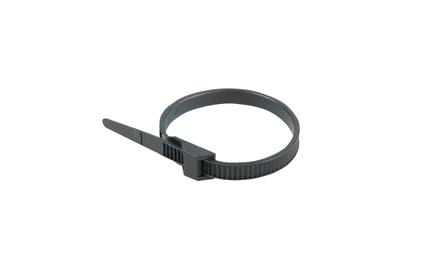 Хомут усиленный с двойным горизонтальным замком Rexant 07-0269 nylon-12 260 x 9мм черный (100 штук)