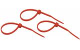 Хомут нейлоновый (кабельная стяжка) Rexant 07-0156-25 красный 150 х 2.5 мм (25 штук)