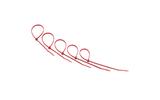 Хомут нейлоновый (кабельная стяжка) Rexant 07-0206-25 красный 200 х 3.6 мм (25 штук)