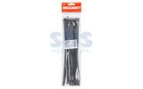 Хомут нейлоновый (кабельная стяжка) Rexant 07-0301-25 черный 300 х 4.8 мм (25 штук)