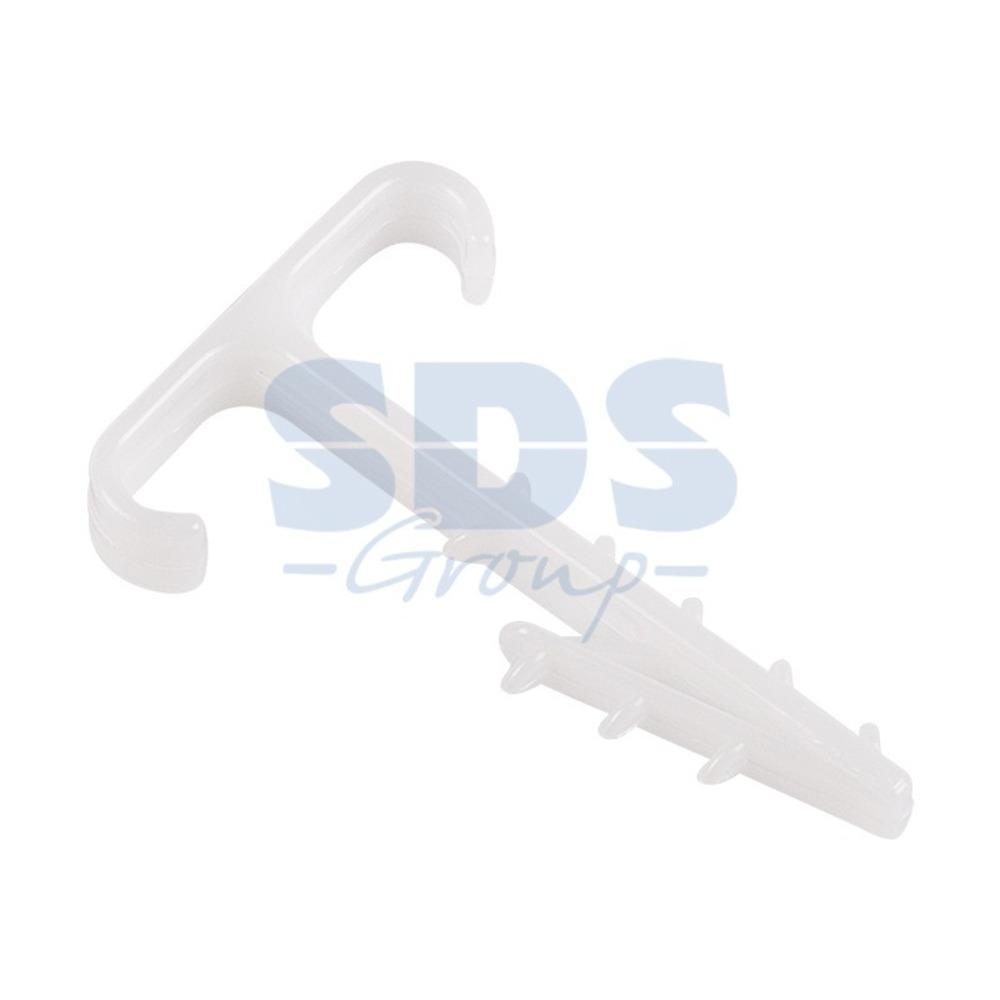 Хомут Rexant 07-4615 Дюбель-хомут Т-образный для двух плоских кабелей 2х12 КФ (100 штук)