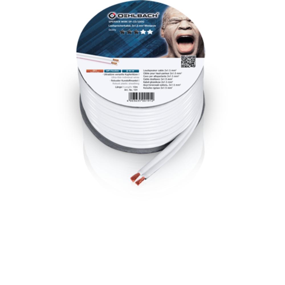 Кабель акустический на катушке Oehlbach 307 Speaker Wire SP-40 White 20m