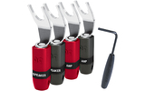 Разъем Лопатка Audioquest SureGrip300 Multi-Spade Silver (Set of 4)