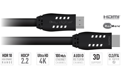 Кабель HDMI - HDMI Key Digital KD-Pro20 6.3m