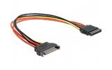 Удлинитель кабеля питания SATA Cablexpert CC-SATAMF-02 0.15m