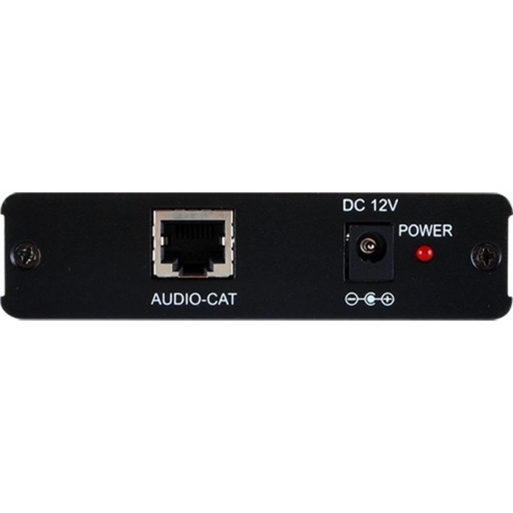 Приемник аналогового стереоаудио (вход/выход 2хRCA) и RS-232 по витой паре CAT5e Cypress DCT-32RX