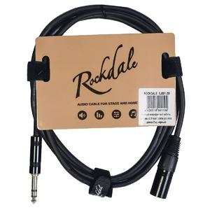 Кабель аудио 1xJack - 1xXLR Rockdale XJ001-2M 2.0m