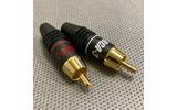 Разъем RCA (Комплект) Supra RCA-3 Plug Red/Blk Pair BULK