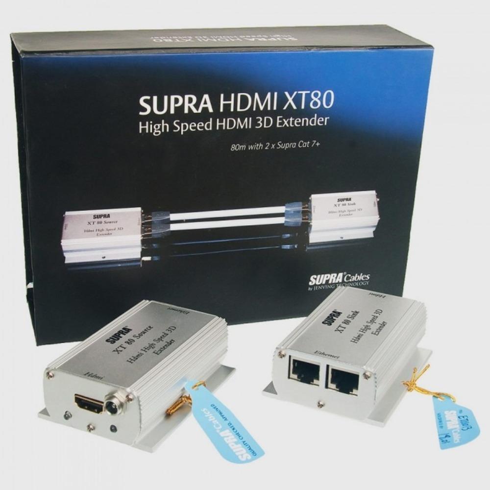 Передача по витой паре HDMI Supra Extender HDMI XT80 2XCAT7