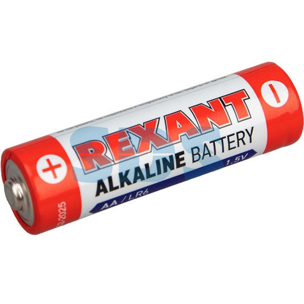 Алкалиновая батарейка Rexant 30-1026 AA/LR6 1,5V 2700 mAh (12 штук)