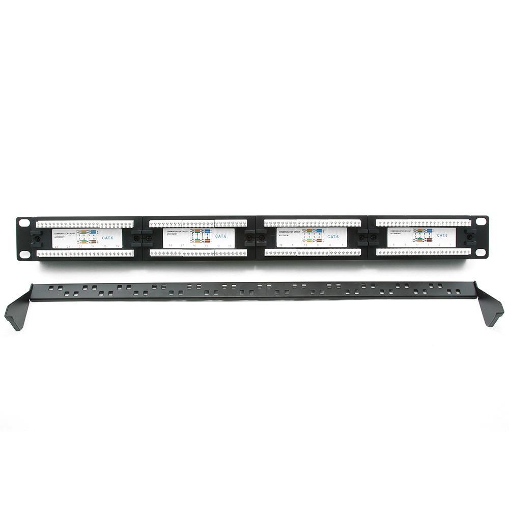 Патч-панель для рэкового шкафа Cablexpert NPP-C624CM-001