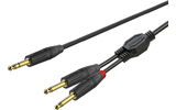 Кабель аудио 1xJack - 2xJack Roxtone GPTC130/2 2.0m