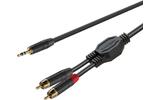 Кабель аудио 1xMini Jack - 2xRCA Roxtone GPTC140/1,5 1.5m