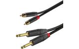 Кабель аудио 2xJack - 2xRCA Roxtone GPTC200/1,5 1.5m