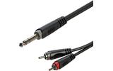 Кабель аудио 1xJack - 2xRCA Roxtone RAYC110/3 3.0m