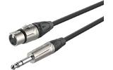 Кабель аудио 1xJack - 1xXLR Roxtone DMXJ220/1 1.0m