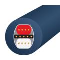 Кабель аудио 2xXLR - 2xXLR WireWorld Luna 8 XLR 2.0m