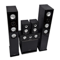Комплект колонок MT Power 89509031 Elegance-2 Set-5.1 Black (White grills)