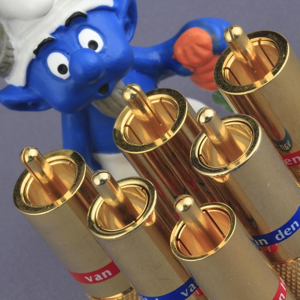 Разъем RCA (Папа) Van Den Hul C-7.3 Gold (Blue)